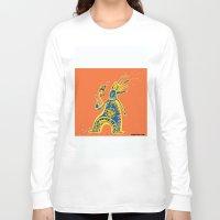 rasta Long Sleeve T-shirts featuring Rasta Shaman by Dmitry Tikov