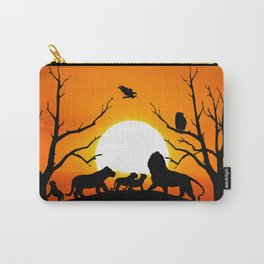 Lion family Carry-All Pouch