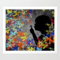 Bubbleflies Art Print