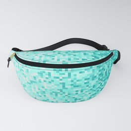 Sky Blue Pixilated Gradient Fanny Pack