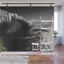 Fencing On The Beach Wall Mural