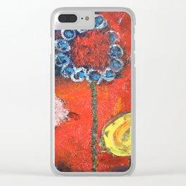 Les Fleurs Clear iPhone Case