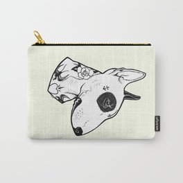 Bull Terrier dog Tattooed Carry-All Pouch
