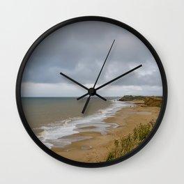 View of Happisburgh Beach Wall Clock