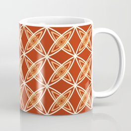 Mid Century Modern Atomic Print, Mandarin Orange Coffee Mug
