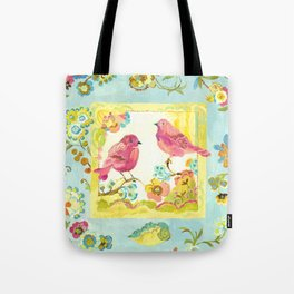 Lovebirds by Kimberly Hodges Tote Bag