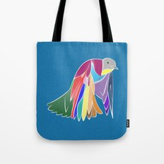 Bird - Blue Tote Bag