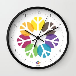 WALL CLOCK: Peace Blossom Wall Clock