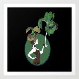 Elegant Iris Victorian Lady Love Classy Sassy Art Print