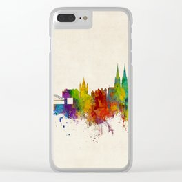 Cologne Germany Skyline Clear iPhone Case