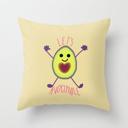 Let's Avocuddle AVOCADO Throw Pillow
