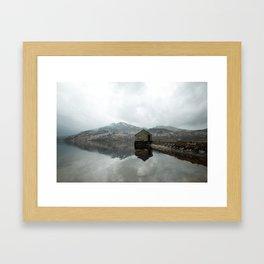 Loch Katrine Boat House Framed Art Print