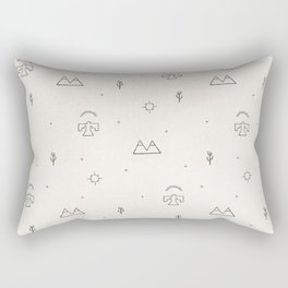 Death Valley in Ivory and Clay Rectangular Pillow