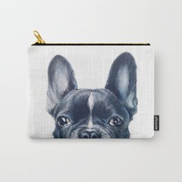 FrenchBulldog 2 Dog illustration original painting print Carry-All Pouch