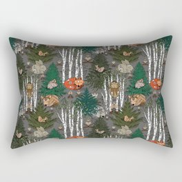 Sleepy Scandinavian Forest Rectangular Pillow