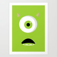 mike wrobel Art Prints featuring Mike by Bearded Manatee