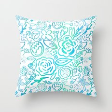 A Profusion of Flowers II Throw Pillow