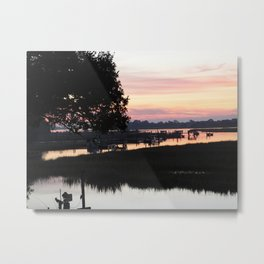 Sunrise at the Beach Metal Print