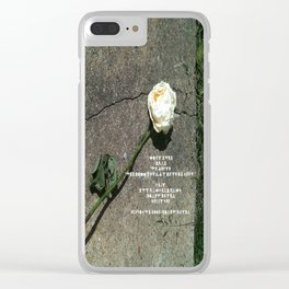 I like it, You don't, Who Cares Clear iPhone Case