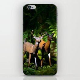 Buck and Doe Deer in the Forest iPhone Skin