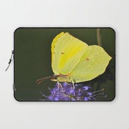 Yellow Butterfly On Purple Flower Laptop Sleeve