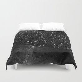 Moon Rising in the dark Black and White Duvet Cover