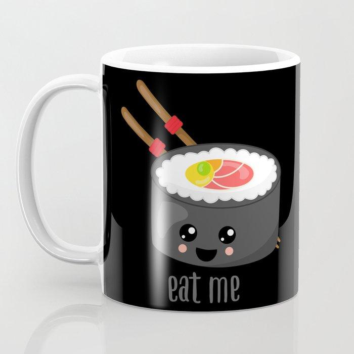 Eat Me in black Coffee Mug