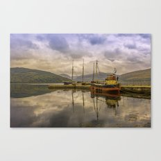 Evening at the Dock Canvas Print