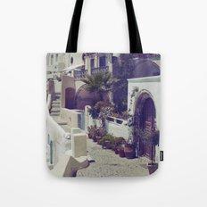 Streets of Santorini I  Tote Bag