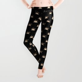 Cute Sleeping Beaver Kawaii Style Leggings
