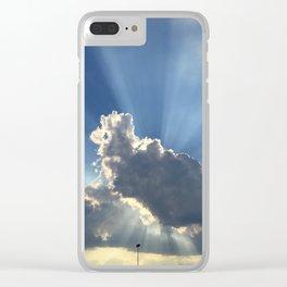 Sunburst Through the Clouds Clear iPhone Case