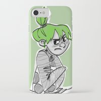 bianca green iPhone & iPod Cases featuring green by art of Bianca