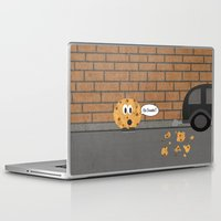 cookie Laptop & iPad Skins featuring Cookie by Laugh Your Head Off