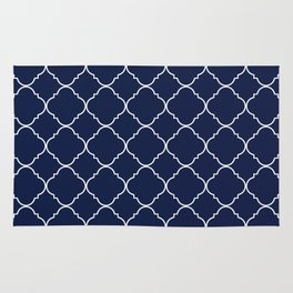 Indigo Navy Blue Moroccan Rug