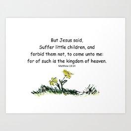 The Baby Robin- Matthew 19:14 Art Print