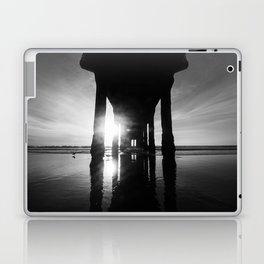 Manhattan Beach Pier in Black and White Laptop & iPad Skin
