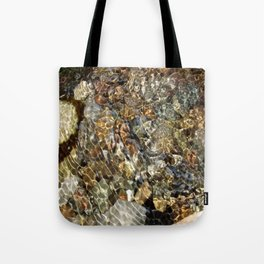 Water Over Troubled Pebbles Tote Bag