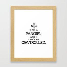 Uncontrollable Fangirl with Fandom Symbol Framed Art Print