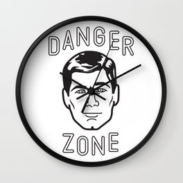 Danger Zone! Wall Clock