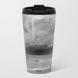 Jogger on Beach Travel Mug