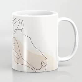 Horse simple line Coffee Mug