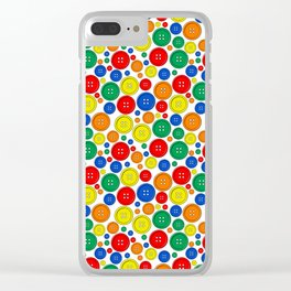 colorful scattered buttons Clear iPhone Case