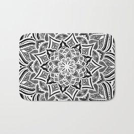 Black mndala for fun Bath Mat