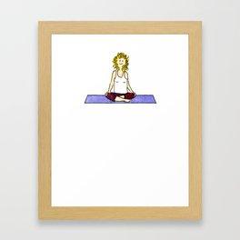 Yoga Folks.  Ending Pose.   Framed Art Print