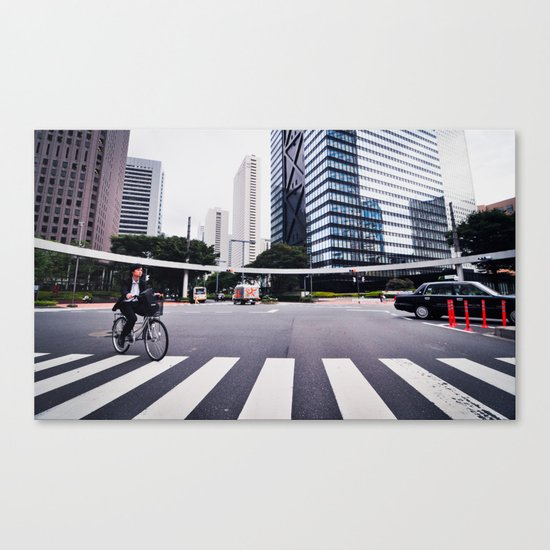 Bicycle Commute in Tokyo Canvas Print