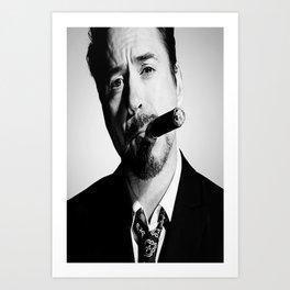Robert Downey Jr Poster, Iron Man Art, Tony Stark Print, Home Decor, Custom Poster, Wall Art, Canvas Poster, Rolled Canvas, Home Decoration Art Print
