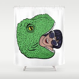 Dinosourprise Shower Curtain