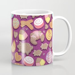 Mexican Sweet Bakery Frenzy // pink background // pastel colors pan dulce Coffee Mug