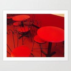 An Ice Cream Red Art Print