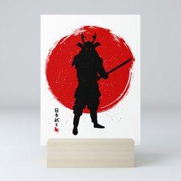 Samurai with Katana Mini Art Print